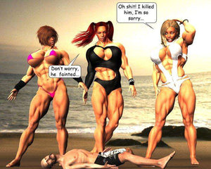 The Beach Trio - FREE - female bodybuilder