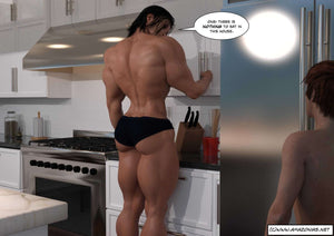 female bodybuilder muscular back