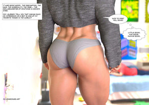 big muscular female thighs and glutes