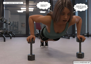 musclegirl exercising