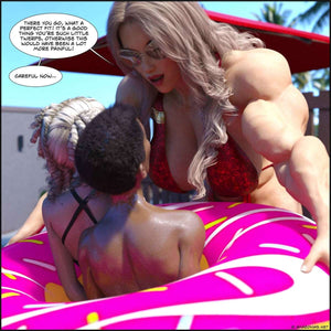 Stacie's Toys - part 2 - female bodybuilder