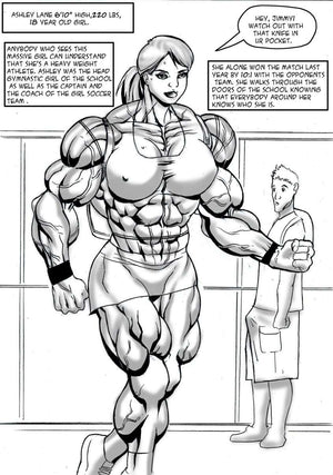Ashley's Final Semester - female bodybuilder