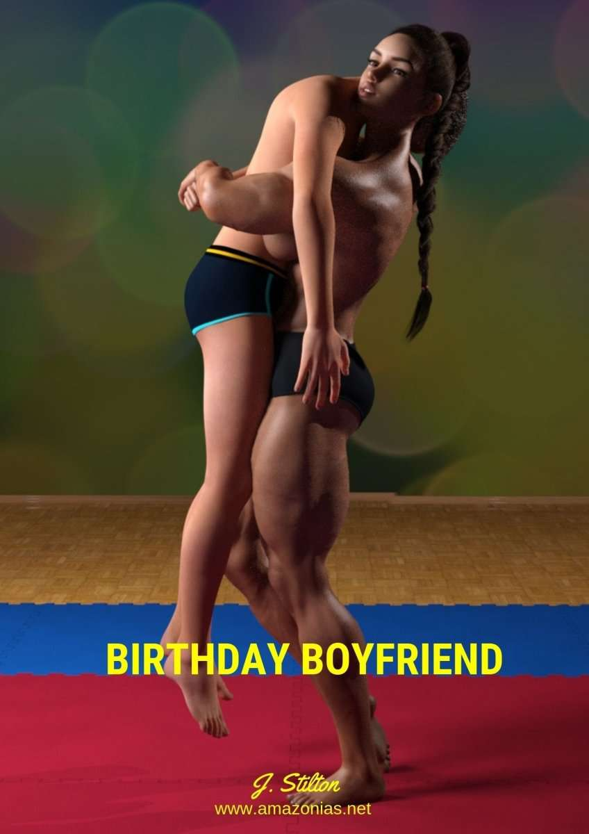 female bodybuilder lifting her boyfriend