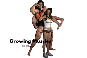 Growing Muscles - Part 2 - female bodybuilder