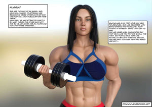 His first time - female bodybuilder