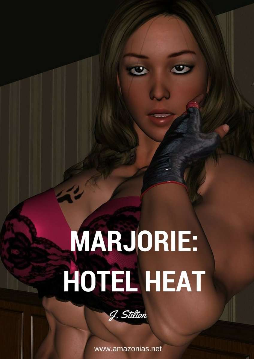 Marjorie: Hotel heat - female bodybuilder