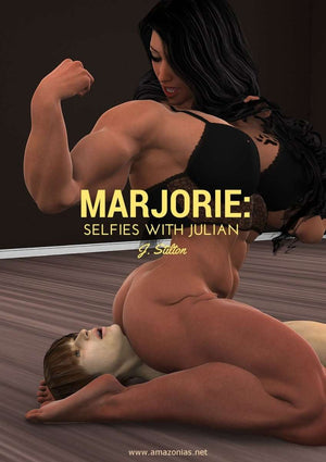 Marjorie: selfies with Julian (Amber & Julian series) - female bodybuilder