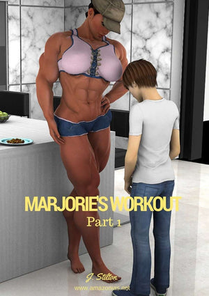 Marjorie's workout - female bodybuilder