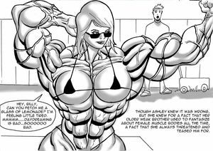 Ashley's Final Semester - part 3 - female bodybuilder