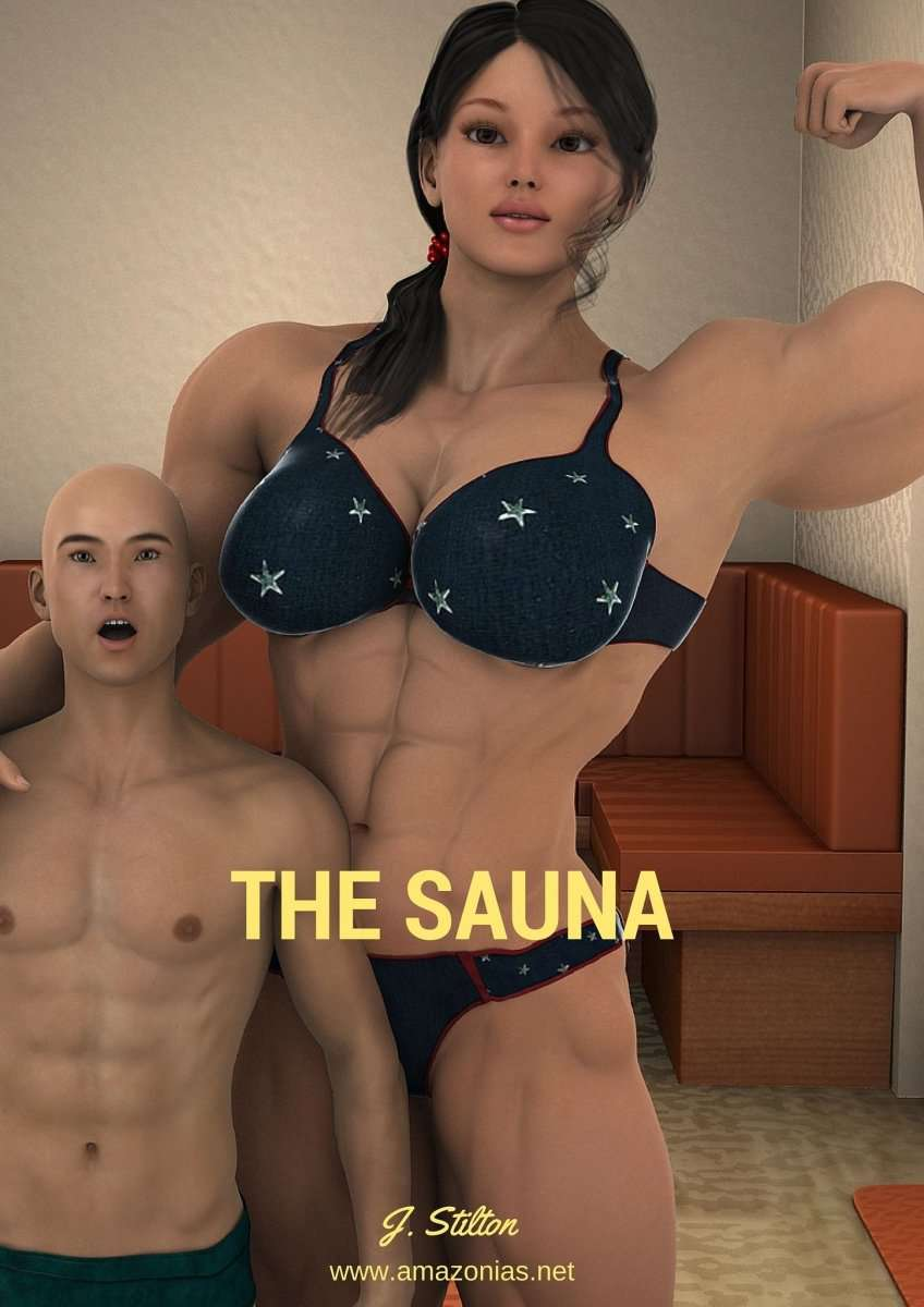 The Sauna - female bodybuilder