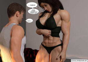 Roommates - part 1 - female bodybuilder