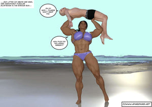 Beach body - female bodybuilder