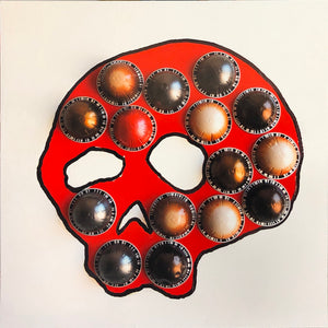 "Limited Edition with ArtResin 16""x16"" Blind as a Skull 2020"