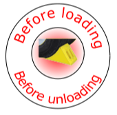 Before Loading/Unloading - Hard Hat Sticker