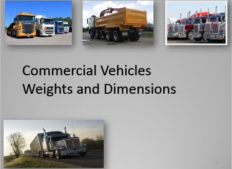 Commercial Vehicles Weight and Dimensions