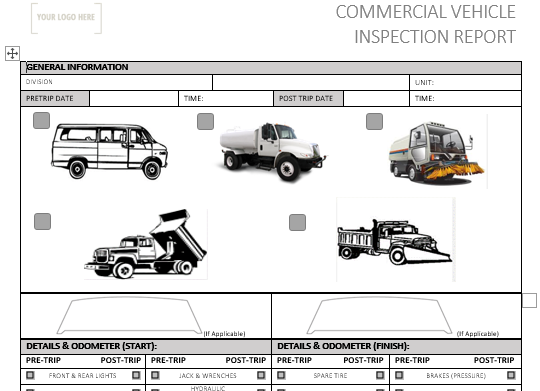 Commercial Vehicle Pre Use Inspection