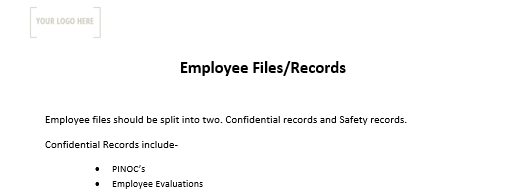Employee Files and Records