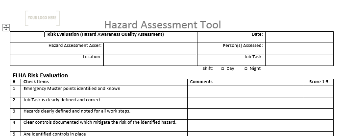 Hazard Assessment Tool