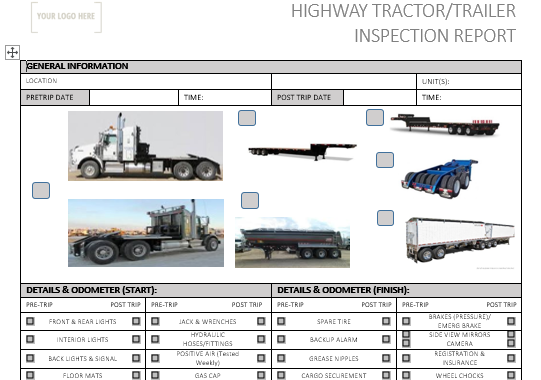 Highway Tractor/ Trailer Pre Use Inspection