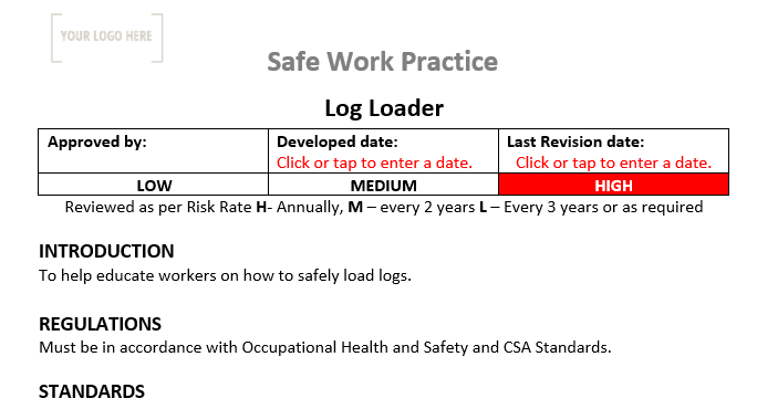 Log Loader Safe Work Practice