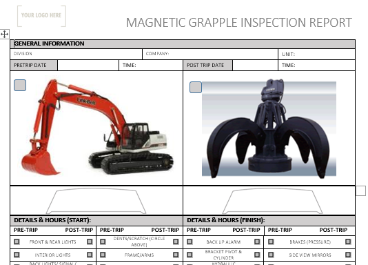 Magnetic Grapple Pre Use Inspection