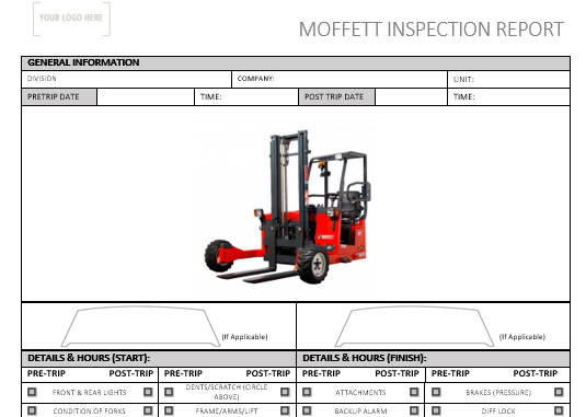 Moffett Pre Use Inspection