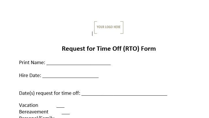 Request for Time Off