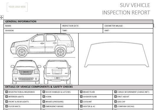 S.U.V Pre-Use Inspection