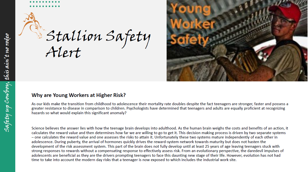Young Worker Safety Alert