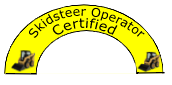 Skidsteer Operator Certified - Hard Hat Sticker