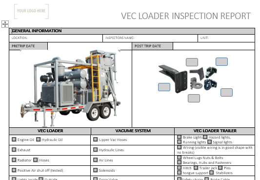 Vec Loader Inspection