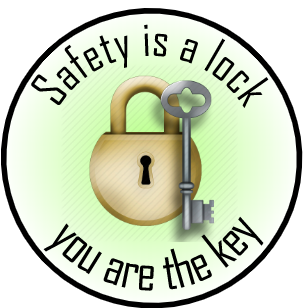 Safety is a Lock, You are the key!  - Hard Hat Stickers