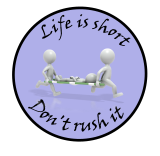 Life is short, Don't rush it - Hard Hat Stickers