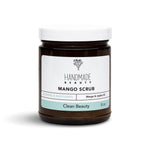 Mango Scrub 8 oz - Handmade Beauty Body Mango Scrub Why should you exfoliate? There are so many reasons like improving your skin texture, removing dead skin cells so that moisturizers can actually penetrate your skin, minimize the appearance of pores, and so on….Our exfoliating body polishes are infused with organic salts, sugars and oils to gently exfoliate dead skin cells leaving your skin refreshed, glowing and moisturized. Glowing & Nurturing Directions: Apply scrub to clean wet skin and massage