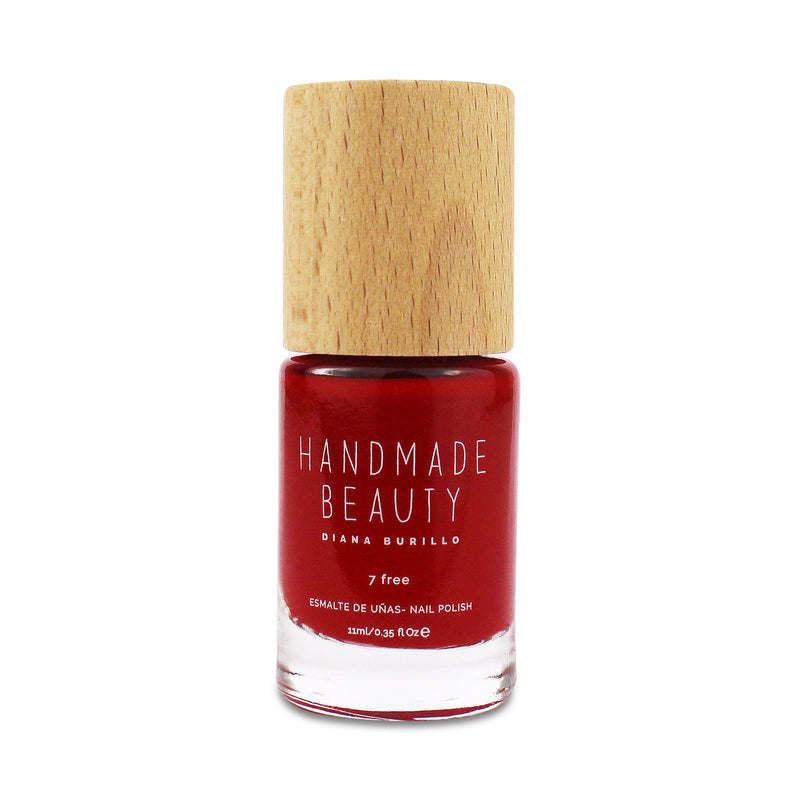 Nail Polish Non Toxic Color Passion Fruit - Handmade Beauty Nail Polish Nail Polish Non Toxic Color Passion Fruit The tropical color of passion fruit. This hue within the range of red contains the brightness of yellow and the warmth of orange. Size: 11 ml Formulation The perfect dose of pigments in the formulation guarantees a covering effect. Contains ingredients specifically designed to strengthen nail's resistance like organic silicon. Easy Apply Fast and precise application due to its brush.  An ergo