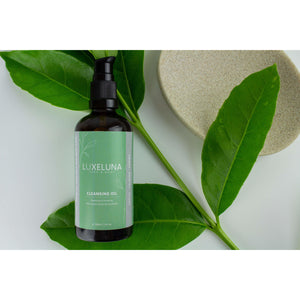 Hydrating Cleansing oil with almond & jojoba - Luxelunafaceandbody