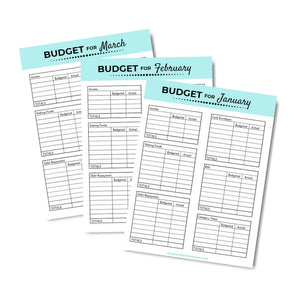 monthly cash enelope budget template