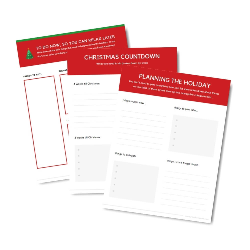 Christmas to-do list organizer