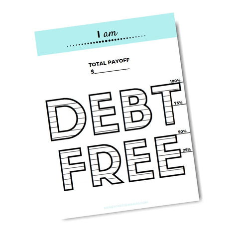 printable debt free tracker