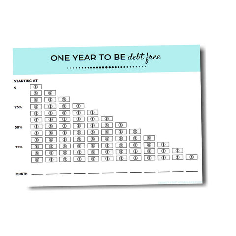 debt free printable tracker