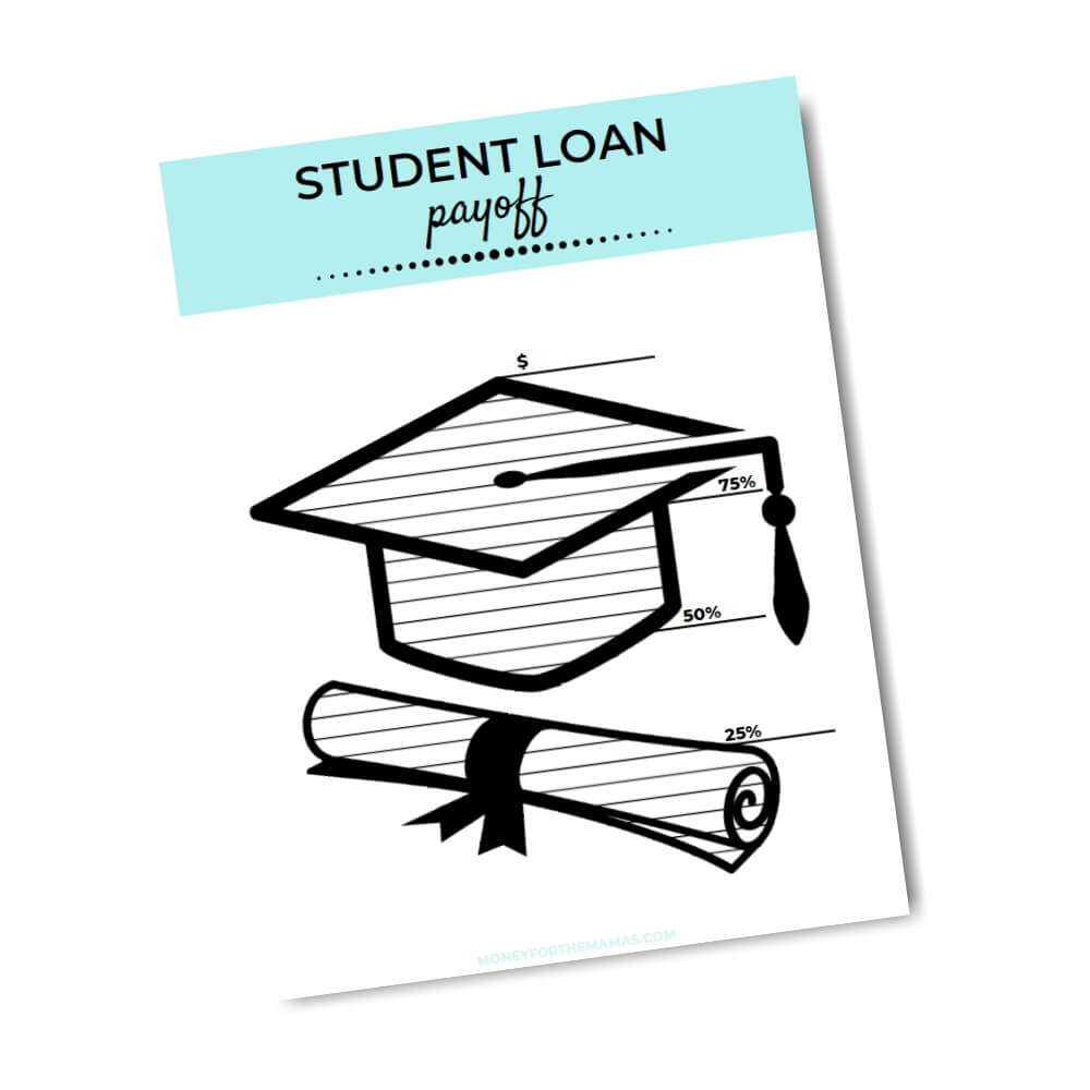 debt free printable tracker - student loans