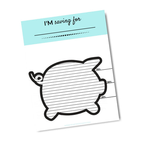 printable savings tracker piggy bank