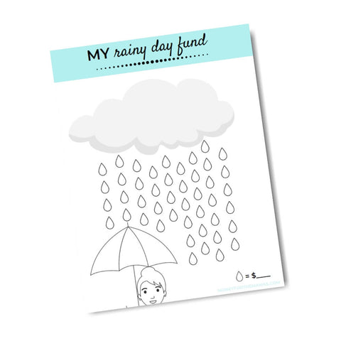 printable savings tracker rainy day