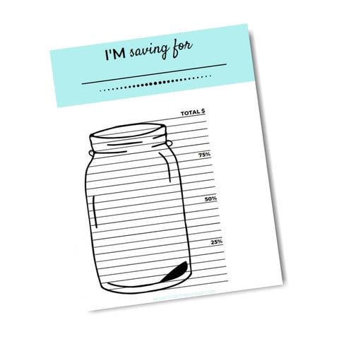 printable savings tracker savings jar