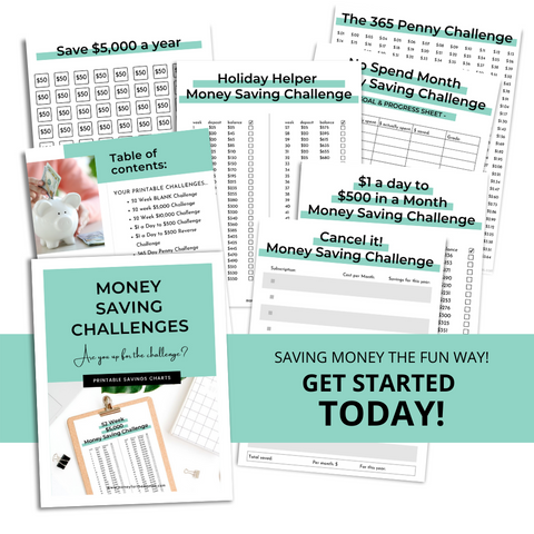 money saving challenges full workbook