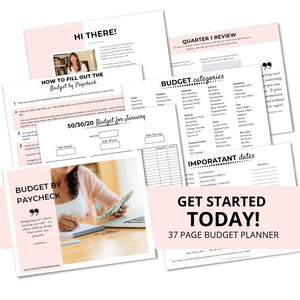 budget by paycheck printable budget planner