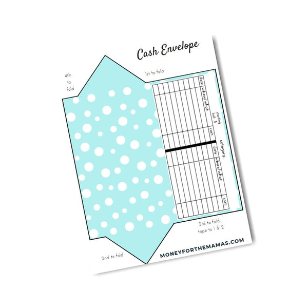 cash envelopes - polka dots