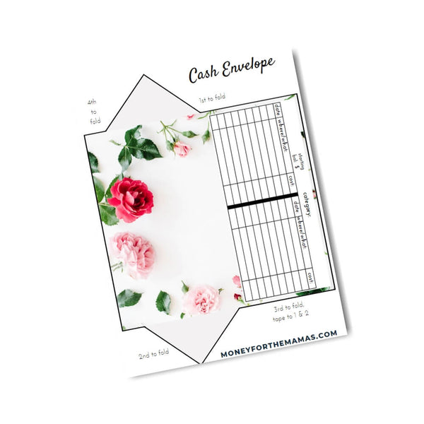 cash envelopes - real floral
