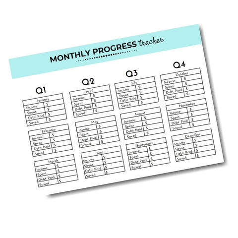financial progress tracker
