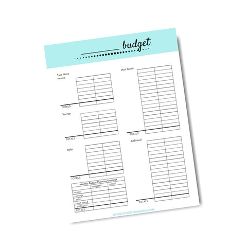 basic monthly budget template